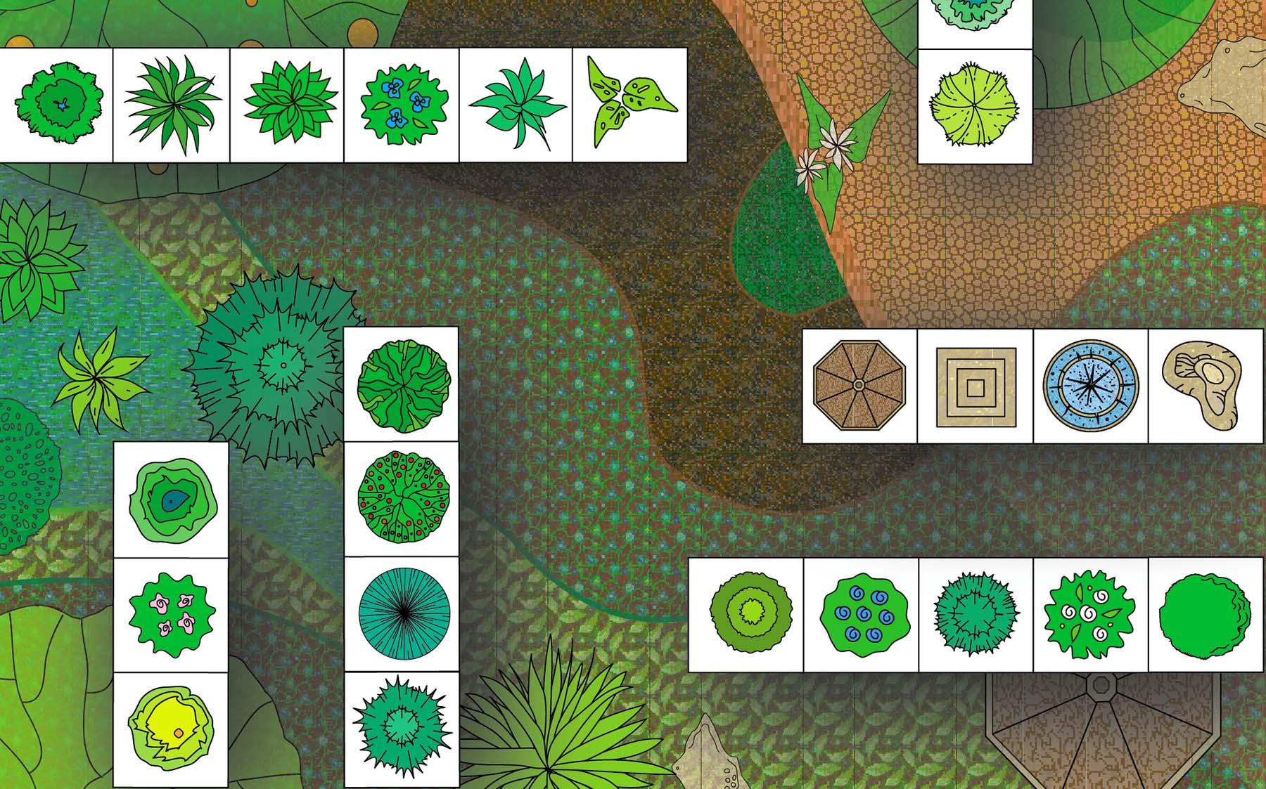 Iwona Creation Ag Landscape Design Symbols Swatches